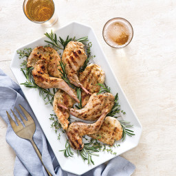 Grilled Garlic and Herb Rabbit