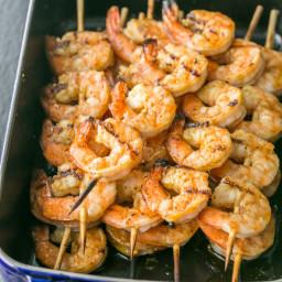 Grilled Garlic Cajun Shrimp Skewers