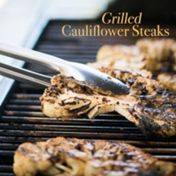 Grilled Garlic Cauliflower Steaks