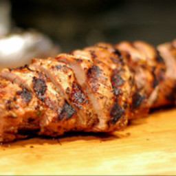 Grilled Garlic Lime Pork Tenderloin