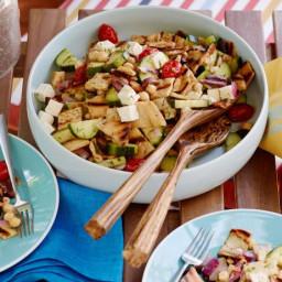Grilled Greek Panzanella Salad