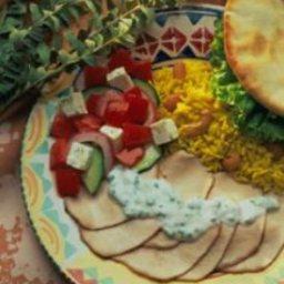 Grilled Greek-Style Pork Roast with Yogurt Sauce