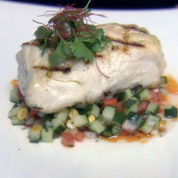 Grilled Halibut with Summer Salsa