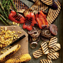 Grilled Halloumi with Mixed Grilled Vegetables