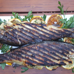 Grilled Herb-Stuffed Trout
