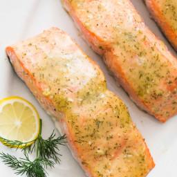 Grilled Honey Mustard Salmon