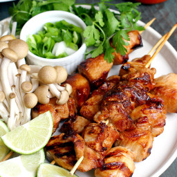 Grilled Honey Sriracha Chicken Kebabs