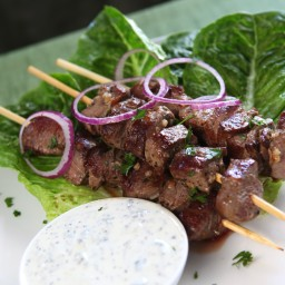 Grilled Lamb Kebabs with Coriander and Cumin