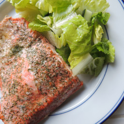 Grilled Lemon Butter Dill Salmon