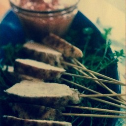 Grilled Lemon Chicken with Satay Dip