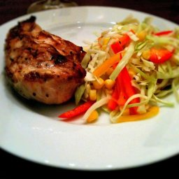 Grilled Lemon Chicken With Slaw