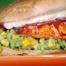 Grilled Lobster Sandwich with Charred Corn and Avocado Salsa