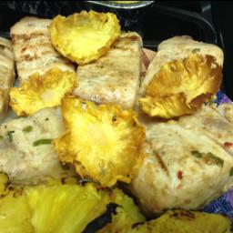 Grilled Mahi Mahi with Pineapple ( 7.5 Points)