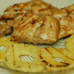 Grilled Mahi Mahi with Pineapple