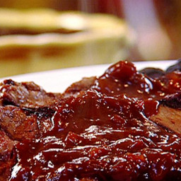 Grilled New York Strip Steak with Beer and Molasses Steak Sauce