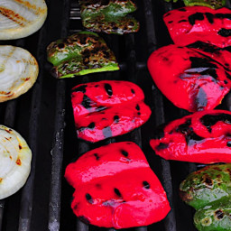 Grilled Peppers and Onions