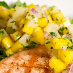 Grilled Pineapple and Miso Salsa
