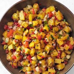 Grilled Pineapple-Jicama Salsa