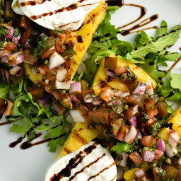 Grilled Polenta Salad With Burrata