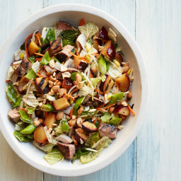 Grilled Pork and Plum Salad