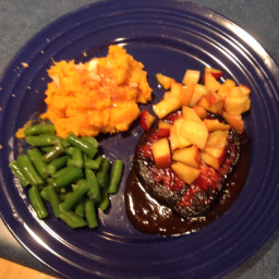 Grilled Pork Chops w/apples