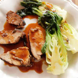 Grilled Pork Tenderloin with Baby Bok Choy