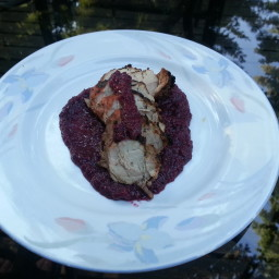 Grilled Pork Tenderloin with Blueberry Orange Sauce