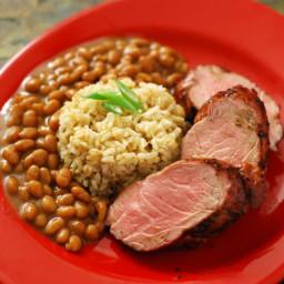 Grilled Pork Tenderloin with Easy Blackberry BBQ Sauce