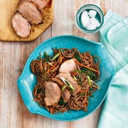 Grilled Pork Tenderloin with Sesame Soba Noodles