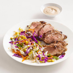 Grilled Pork With Charred Corn Slaw