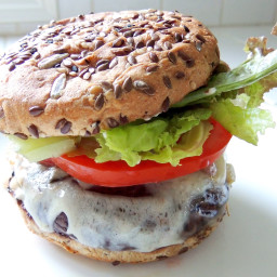 Grilled Balsamic Portobello Burger with Caramelized Onion