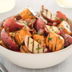 Grilled Potato Salad With Bacon-Scallion Vinaigrette