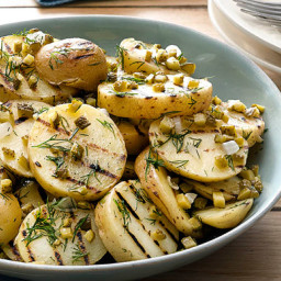 Grilled Potato Salad with Cornichons and Dill