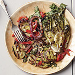 Grilled Potato Salad with Pesto and Escarole