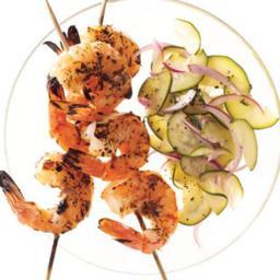 Grilled Provencal Shrimp Skewers