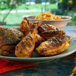 Grilled Red Chile Buttermilk Chicken with Spicy Mango Honey Glaze
