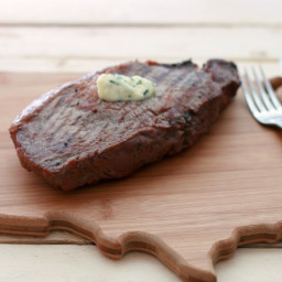 Grilled Ribeye Steaks with Compound Butter