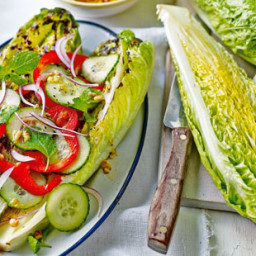 Grilled romaine lettuce with dressing recipe