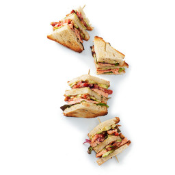 Grilled Salmon BLT Clubs
