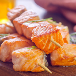 Grilled Salmon Kebobs