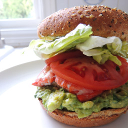 Grilled Salmon Sandwich with Guac