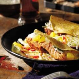 Grilled Salmon Soft Tacos