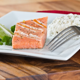 Grilled Salmon Steaks with Lime Butter