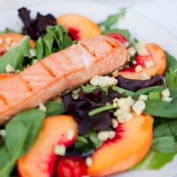 Grilled Salmon Summer Salad