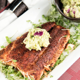 Grilled Salmon With Avocado Sauce Recipe