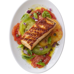 Grilled Salmon with Heirloom Tomatoes