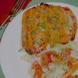 Grilled Salmon with Mustard-Molasses Glaze
