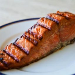 Grilled Salmon with Soy-Honey Marinade
