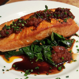 Grilled Salmon with Sun Dried Tomato
