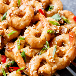 Grilled Satay Shrimp Skewers